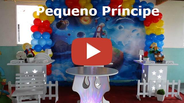 Decoração mesa de festa Pequeno Príncipe provençal