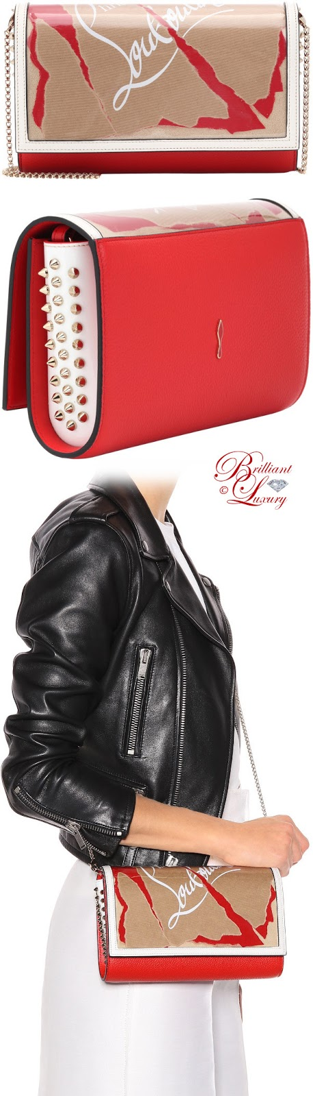Brilliant Luxury ♦ Christian Louboutin Paloma Loubikraft leather clutch 2018