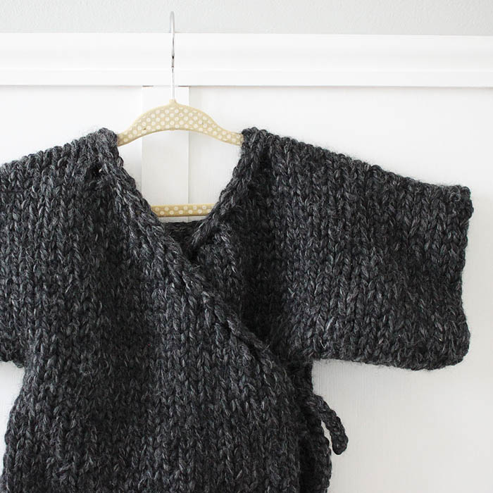 Knitting Pattern Kimono : Toddler Kimono Sweater Knitting Pattern - Gina Michele