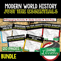 World History Outline Notes, World History Test Prep, World History Test Review, World History Study Guide, World History Summer School Outline, World History Unit Overview, World History Interactive Notebook Inserts, Mapping Skills, Renaissance, Reformation, Exploration, Royal Power, Absolutism, French Revolution, Industrial Revolution, Cultural Revolution, Imperialism, World War I, 1920s, 1930s, World War II, Cold War, Asia After WWII, Africa After WWII, Latin America After WWII, Middle East After WWII, Modern Times
