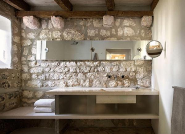 Hausmeister for Rustic stone bathroom designs
