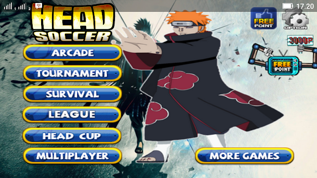 Head Soccer Mod Naruto v4.0.3 Apk Data Terbaru, Keren Bro!!