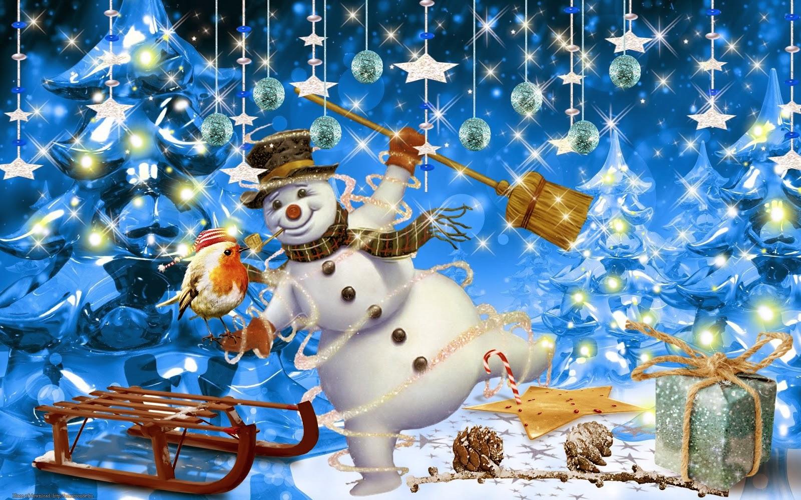 Fondo De Pantalla 3d De Navidad De Santa Vas De Luna Hd: Imagenes De Navidad Con Movimiento Para Celular
