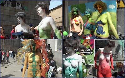 Одесский фестиваль боди-арта / Odessa body art festival.