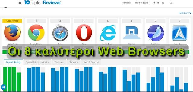 Οι καλύτεροι Web Browsers
