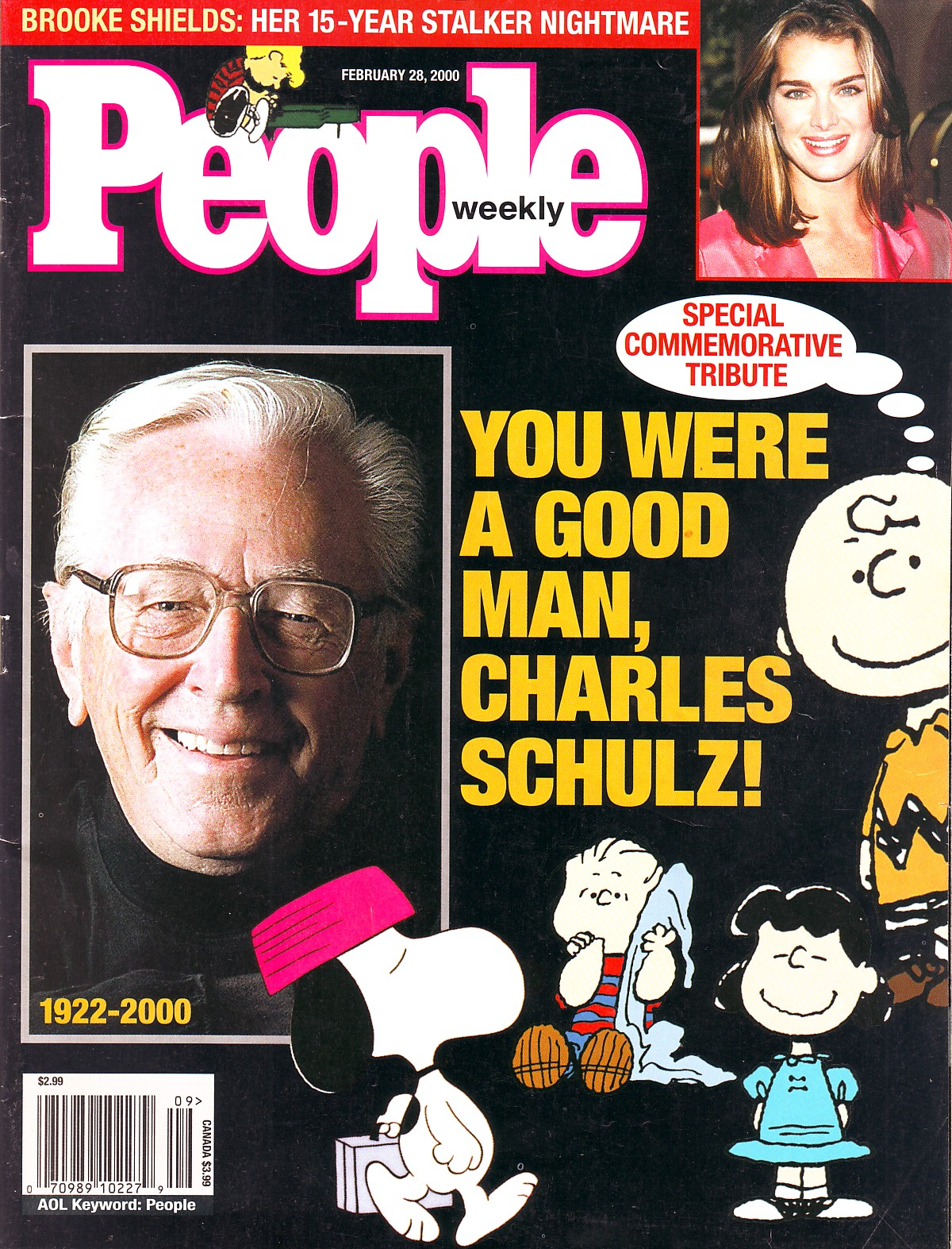 Image result for cartoonist charles schulz died