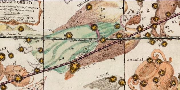 Dibujo antiguo de la constelación. Google Sky.
