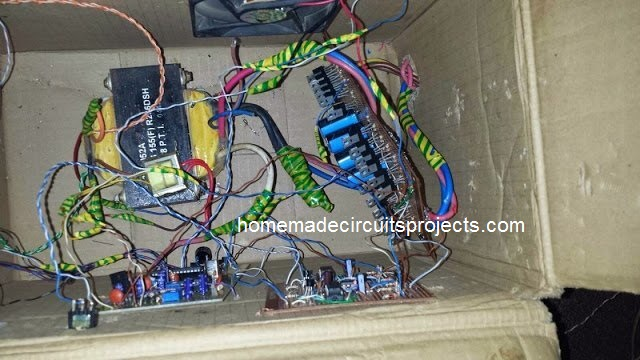 Transformer wiring for Sinewave UPS using PIC16F72