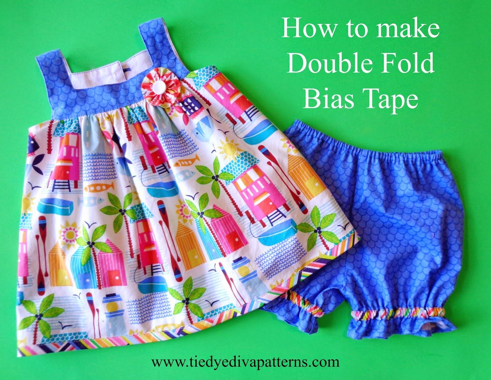 Tutorial tuesday how to make double fold bias tape tie dye diva tutorial tuesday how to make double fold bias tape baditri Gallery