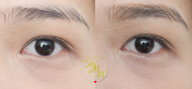 before and after photo of askmewhats using Maybelline Fashion Brow Precise Shaping Pencil Natural Brown
