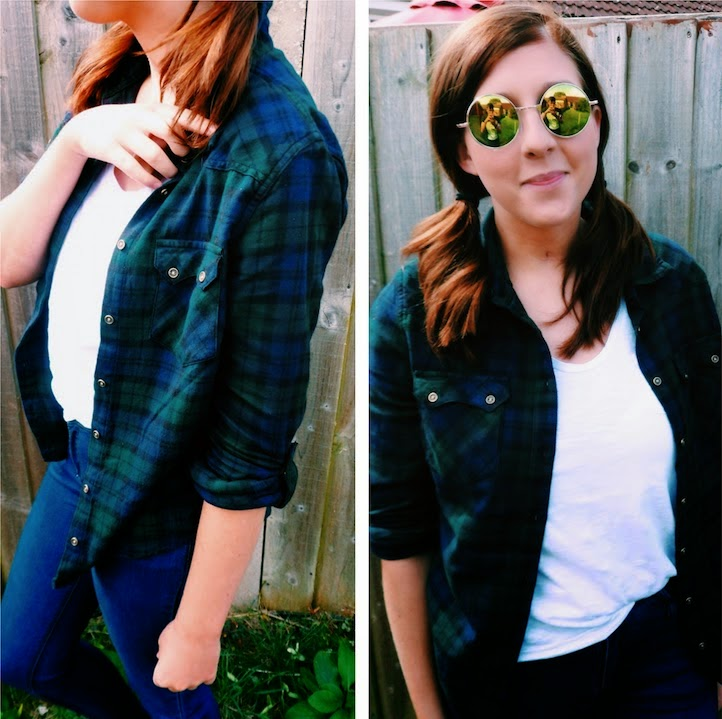 fashionbloggers, fbloggers, ootd, outfitoftheday, primark, whatibought, whatimwearing, wiw, flannelshirt, whitetop, retro, vintage