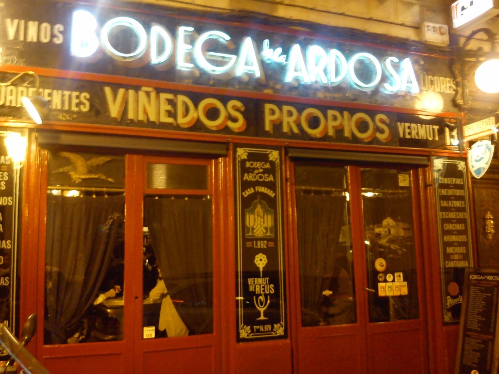 Mis Tabernas Favoritas Bodega De La Ardosa Colon 13