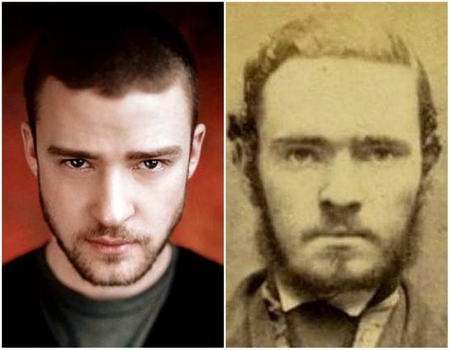 Justin Timberlake e um desconhecido do passado