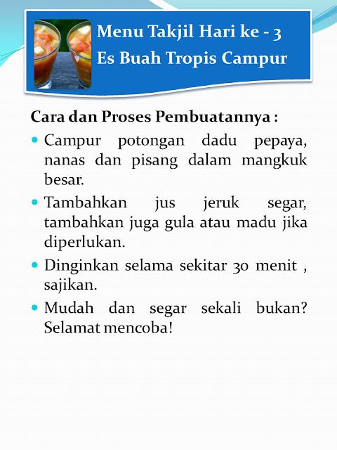 Resep Takjil Mudah dan Murah yang Harus Ummat Islam Tahu
