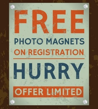 Register and Get Free Photo Magnet at Printvenue