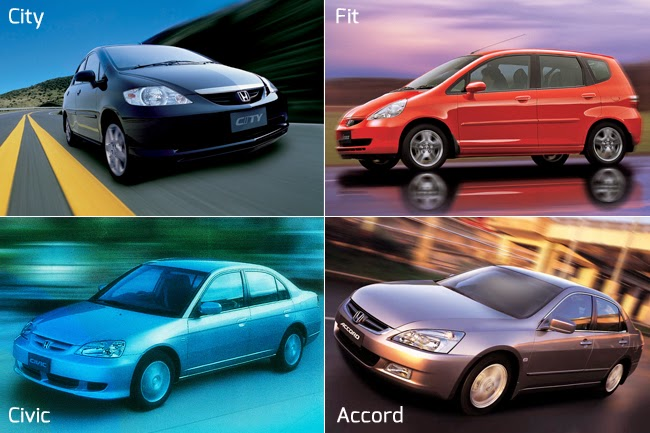 Honda Fit, City, Civic and Accord