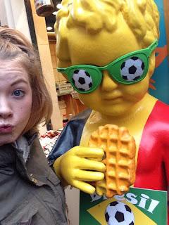 brussels football mannekin pis statue belgium