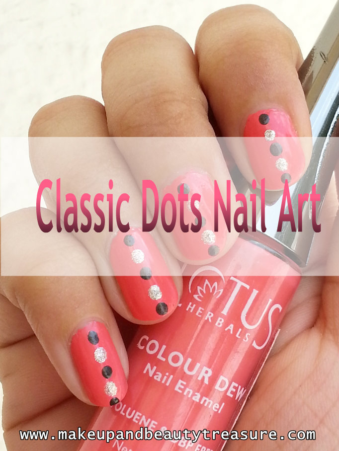 Makeup And Beauty Treasure: Classic Polka Dots Nail Art