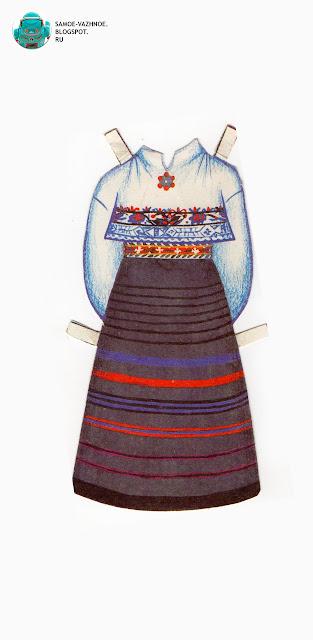 Бумажные куклы СССР. Бумажные куклы в национальных костюмах Эстония Таллин СССР.