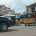 Photos: Tricycle rider dies after crashing into a moving trailer in Abia