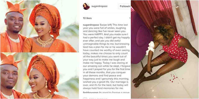 Foston Utomi's wife ends their marriage on their one year anniversary
