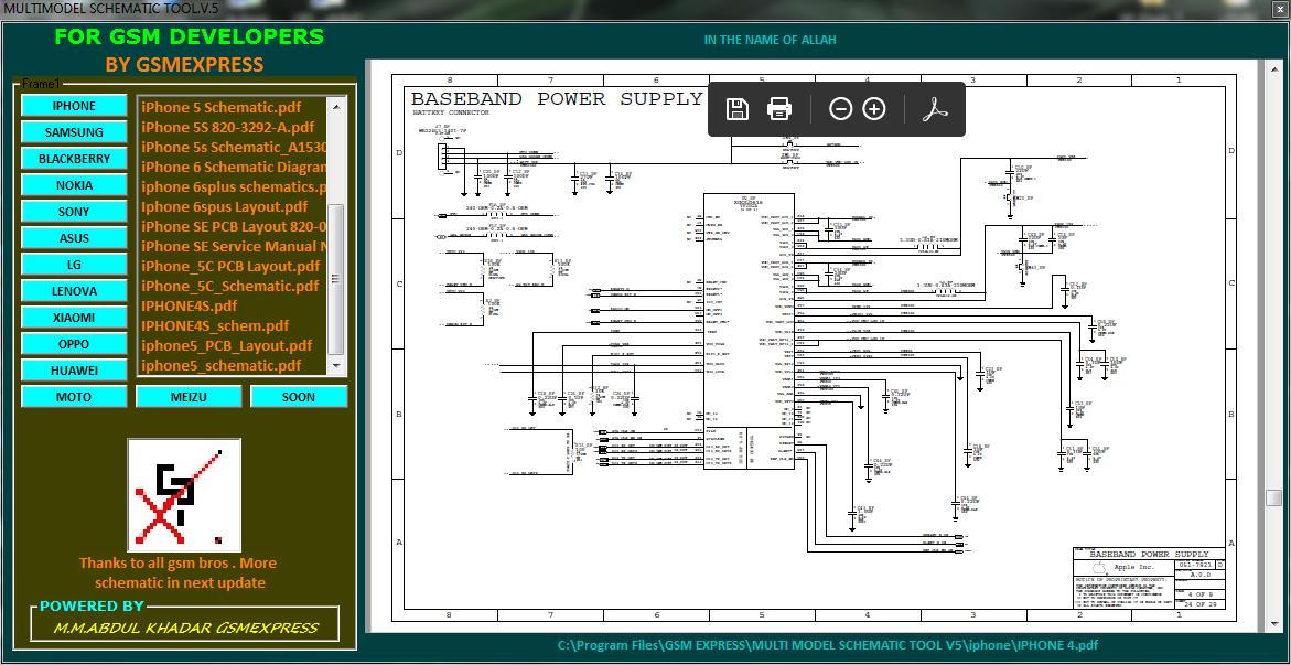 Multi Model Schematic Tool