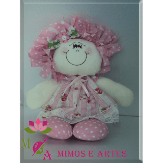 boneca de pano sorriso