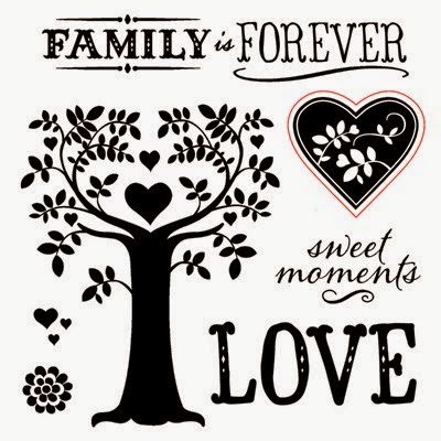CTMH September 2014 Stamp of the Month: Family Is Forever