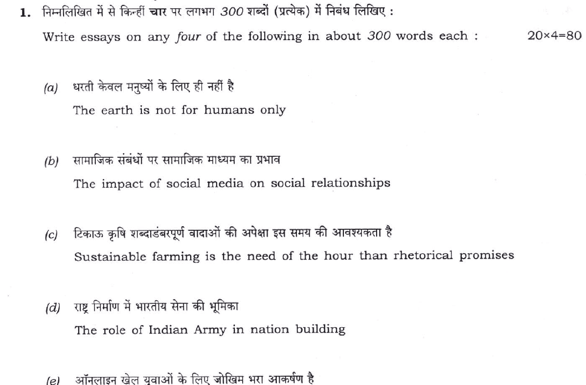 UPSC CAPF 2019 Question Papers