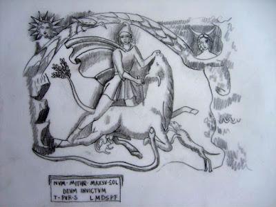 dieux, Mithra, taureau, serpent, corbeau, mythologie, Rois mages, mages, Bourg Saint Andéol, bas relief