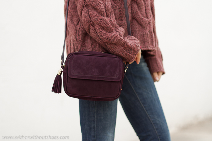 tendencias bolsos temporada color morado granate