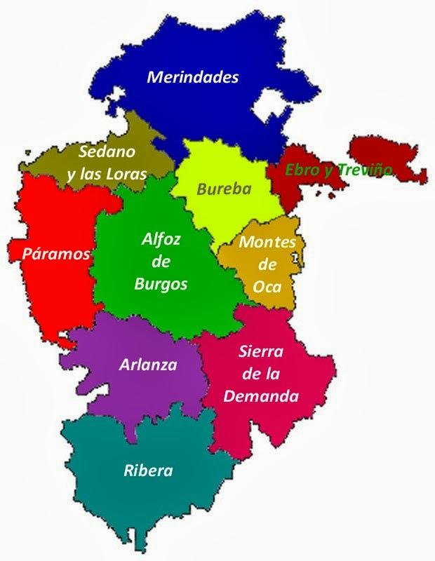 burgos mapa Sendas de Burgos: Mapa de la Provincia de Burgos burgos mapa