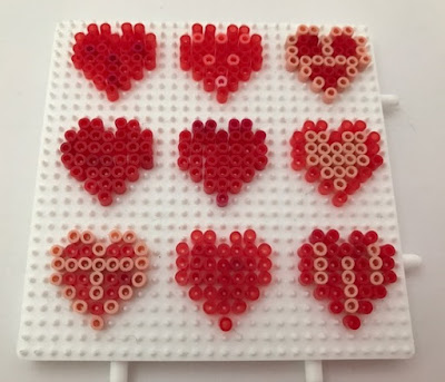 How to make mini Hama bead heart decorations