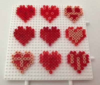 How to make mini Hama bead heart decorations