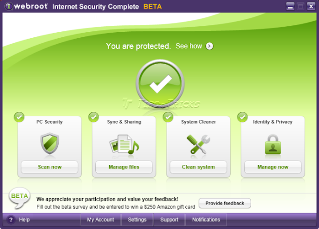 Install Webroot antivirus software