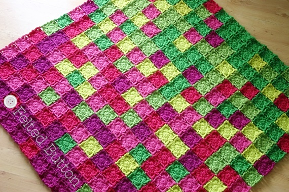 Flying Colors Blanket Crochet Pattern by Susan Carlson of Felted Button