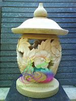 Lampion taman minimalis motif bunga