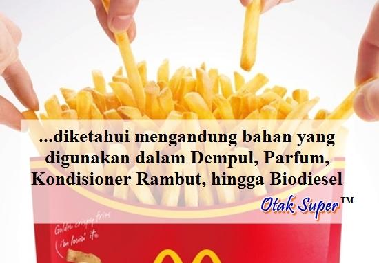 bahan-bahan berbahaya dalam kentang goreng McDonald's