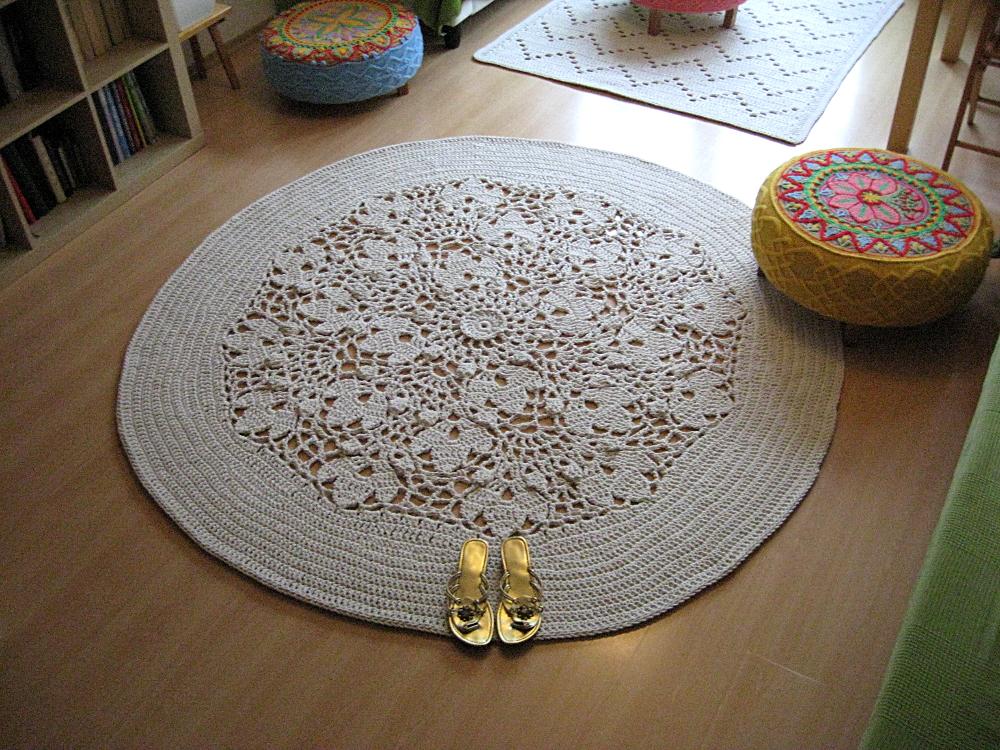 Latające Dywany Zaokrąglony Dywan W Kwiaty