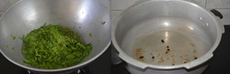 preparing palak khichdi