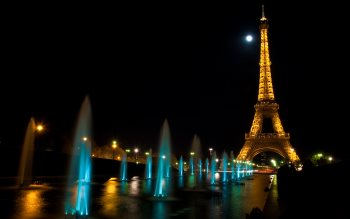 Wallpaper: Paris at Night. Tour Eiffel