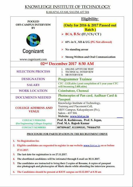 Cognizant recruitment for 2016 pass outs,  Cognizant recruitment for 2017 pass outs, Cognizant recruitment for BCA Freshers, Cognizant recruitment for Bsc freshers, Cognizant recruitment for Freshers 2017 Latest