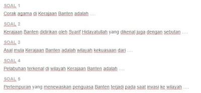 Contoh Soal Kerajaan Banten