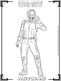 ant man captain america civil war coloring pages
