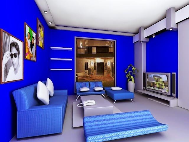 Warna Cat Interior Rumah Minimalis Biru