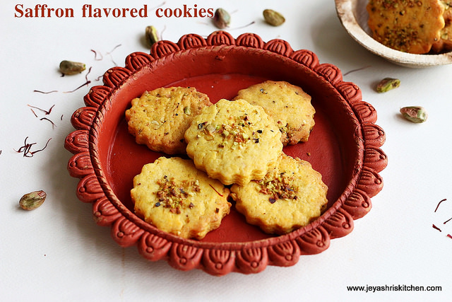 Saffron flavored cookies