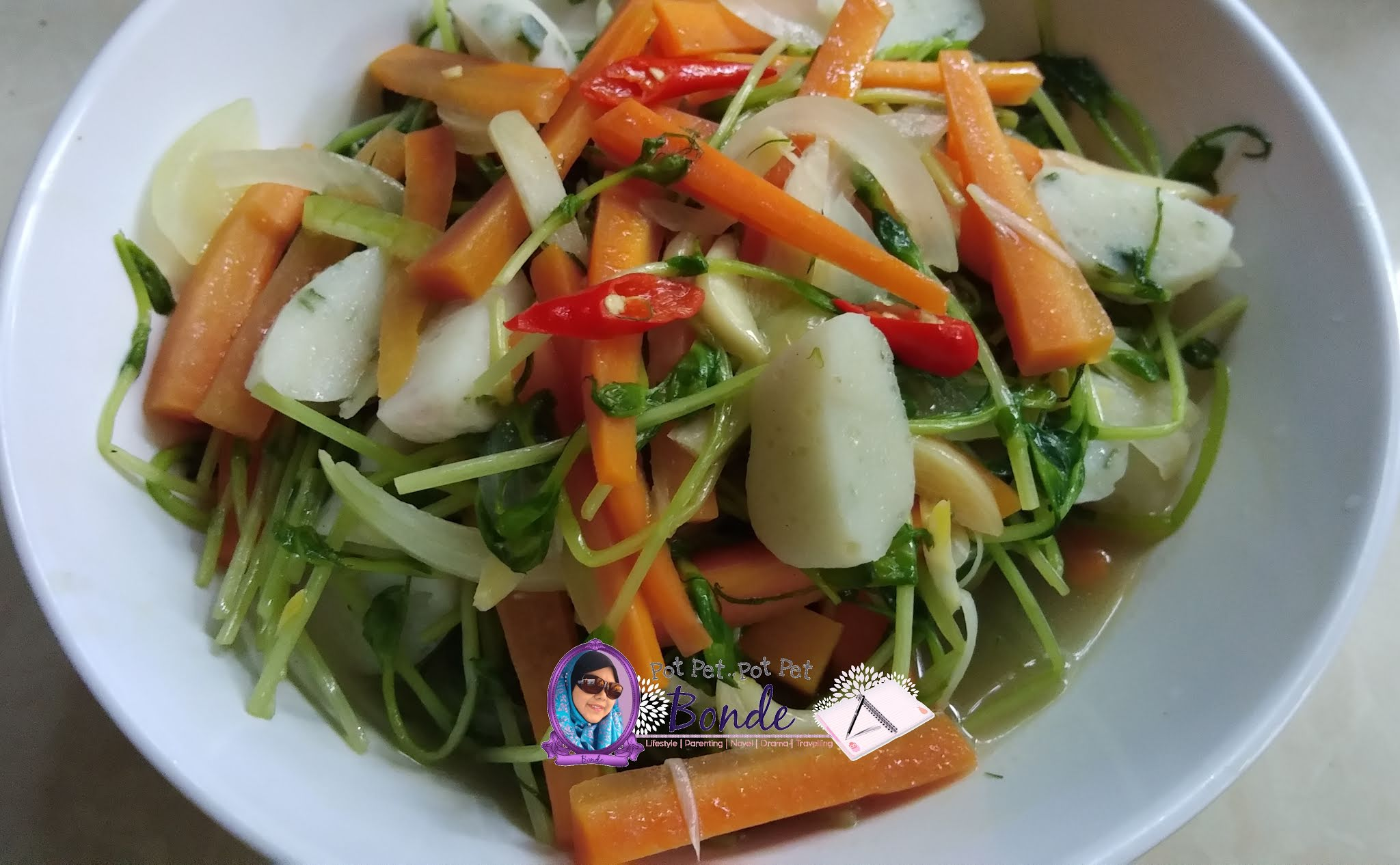 resipi sayur pea sprout