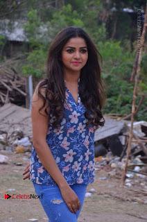 Nithya Ram Pictures in Skinny Jeans at SUN TV Nandini Serial Press Meet
