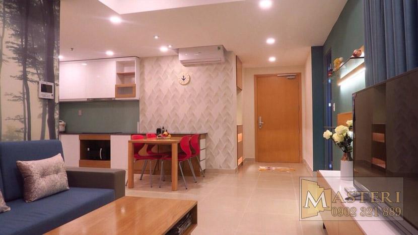 Masteri Thảo Điền căn hộ cho thuê - giường ngủ