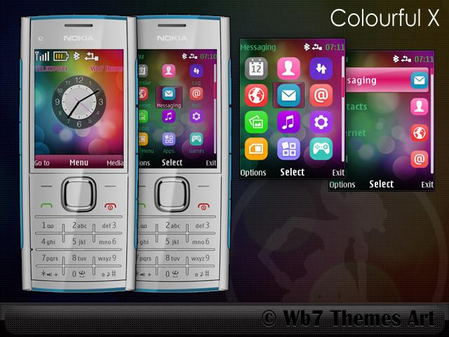 Nokia x2-00 theme lwp clock i free.